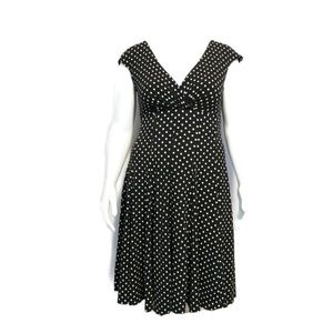 Haani Empire Waist Polka Dot Flare Dress